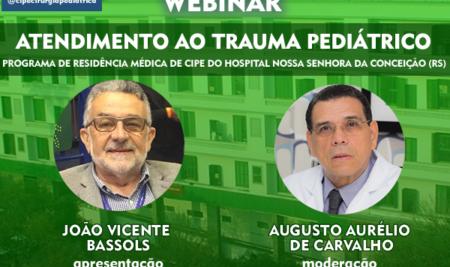 Sexta-feira tem webinar sobre Atendimento ao Trauma Pediátrico