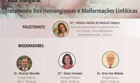 Curso Multiprofissional das Anomalias Vasculares tem aula inaugural nesta quinta-feira