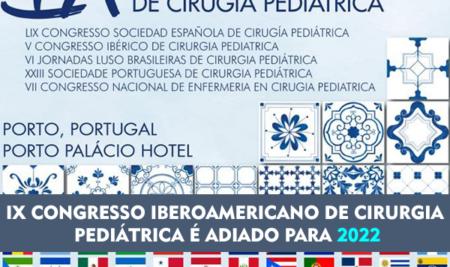 Errata: IX Congresso Iberoamericano de Cirurgia Pediátrica é adiado para 2022