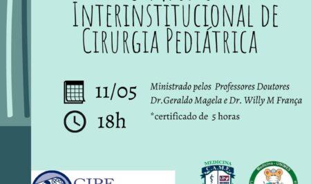 Simpósio Inter-Institucional de Cirurgia Pediátrica acontece nesta terça-feira