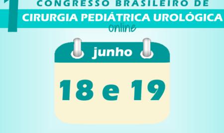 1º Congresso Brasileiro de Cirurgia Pediátrica Urológica online ocorre em 18 e 19 de junho